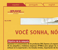 DHL You Dream We Deliver Website