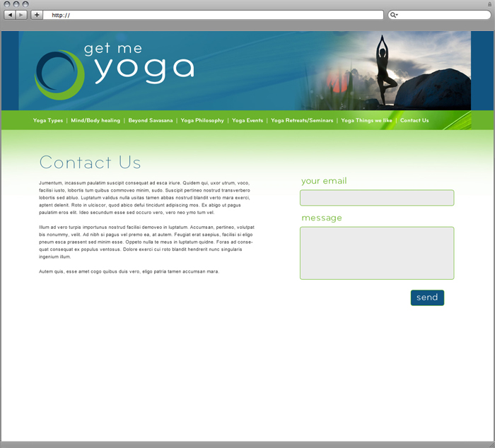 Get Me Yoga Website