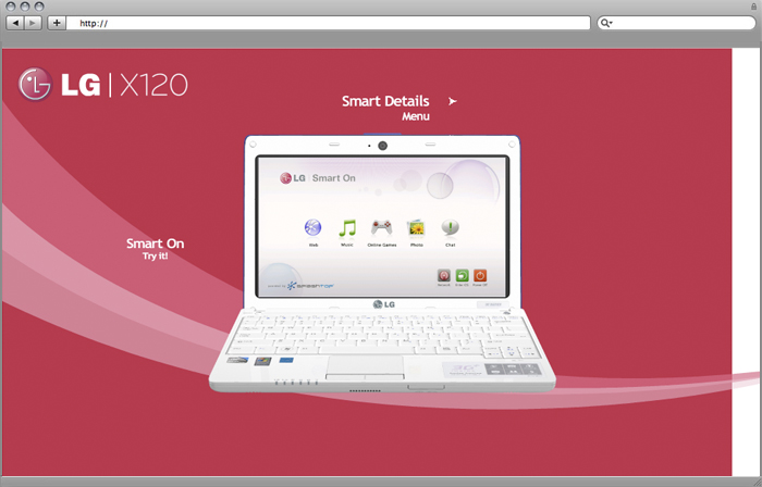LG X120 Training Website/Application