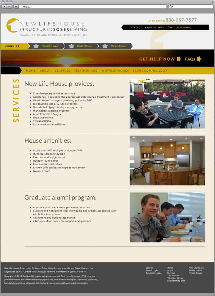 New Life House Website