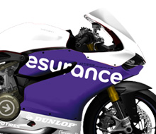 Esurance sponsored AMA Superbike
